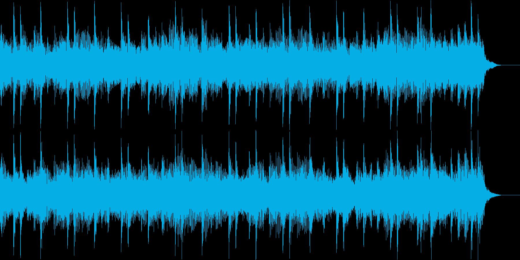 快走するようなポップスBGMの再生済みの波形