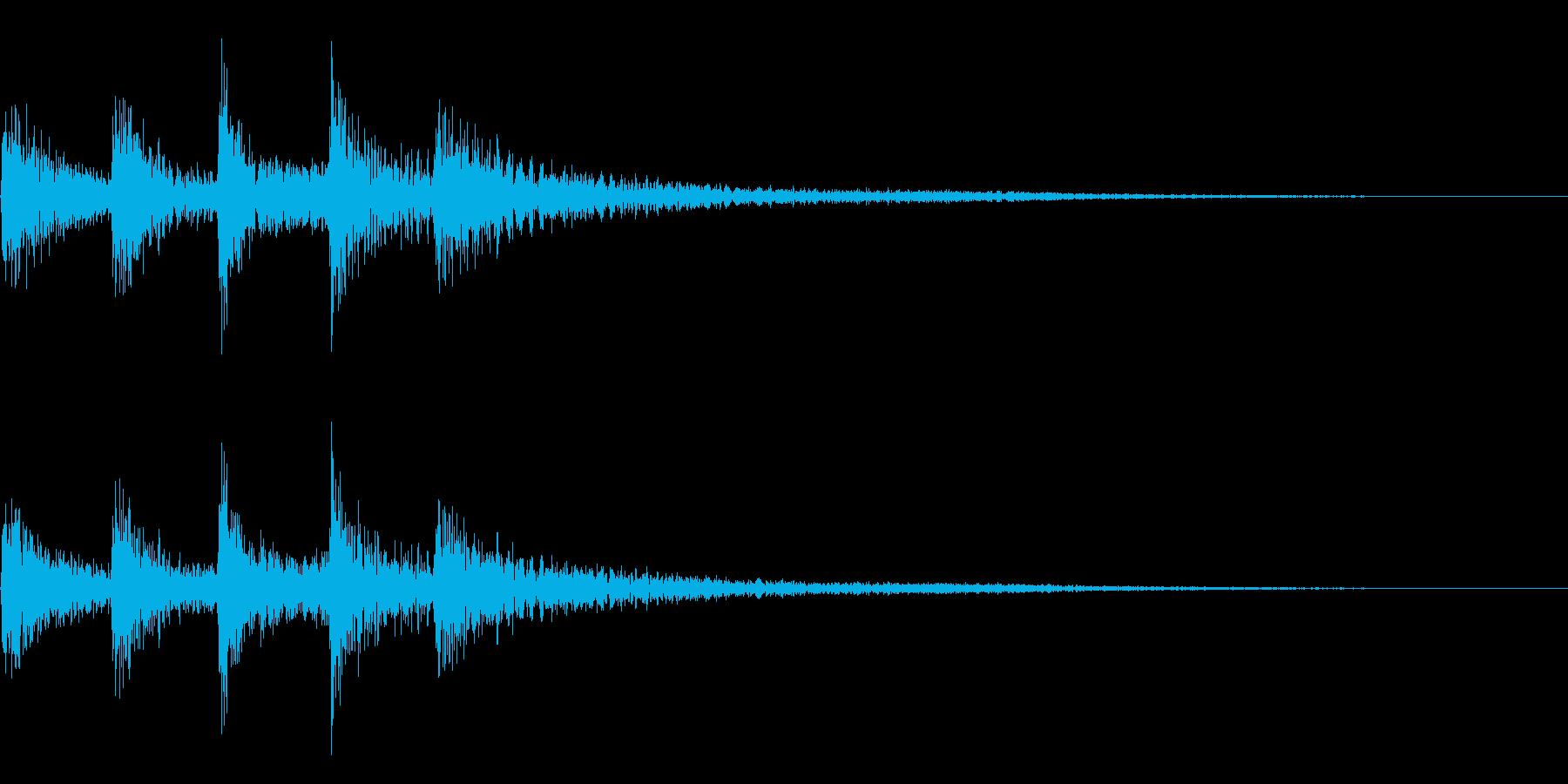 シンプルな琴の和風効果音です。の再生済みの波形