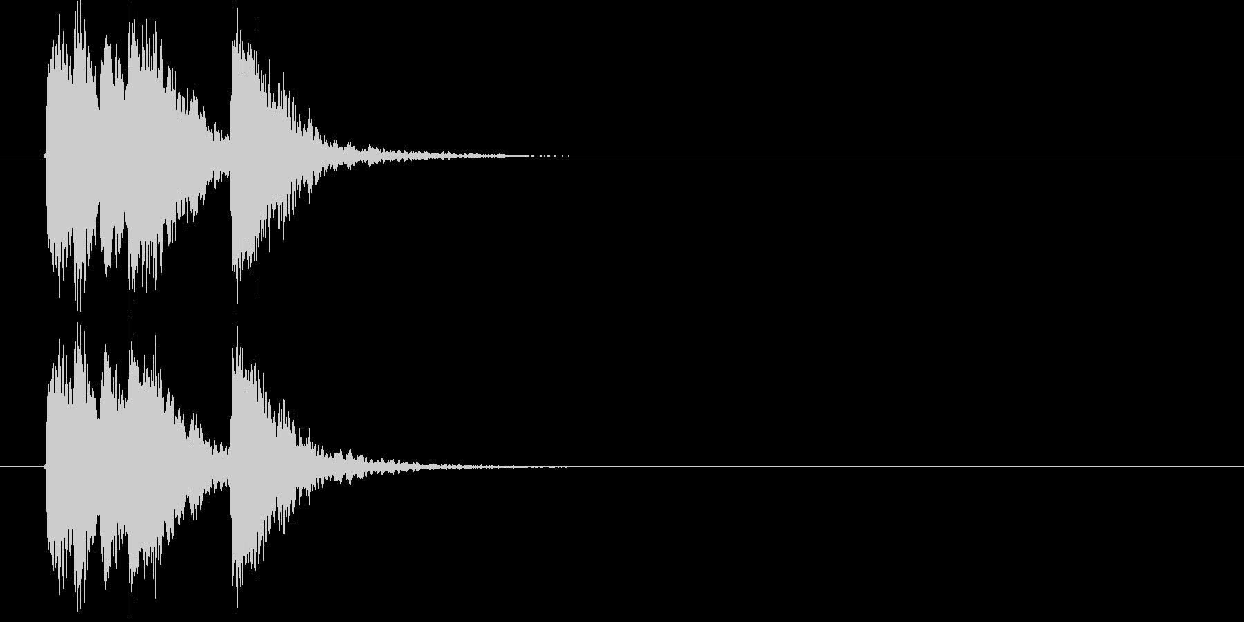 ワイルドで勢いあるジングルの未再生の波形