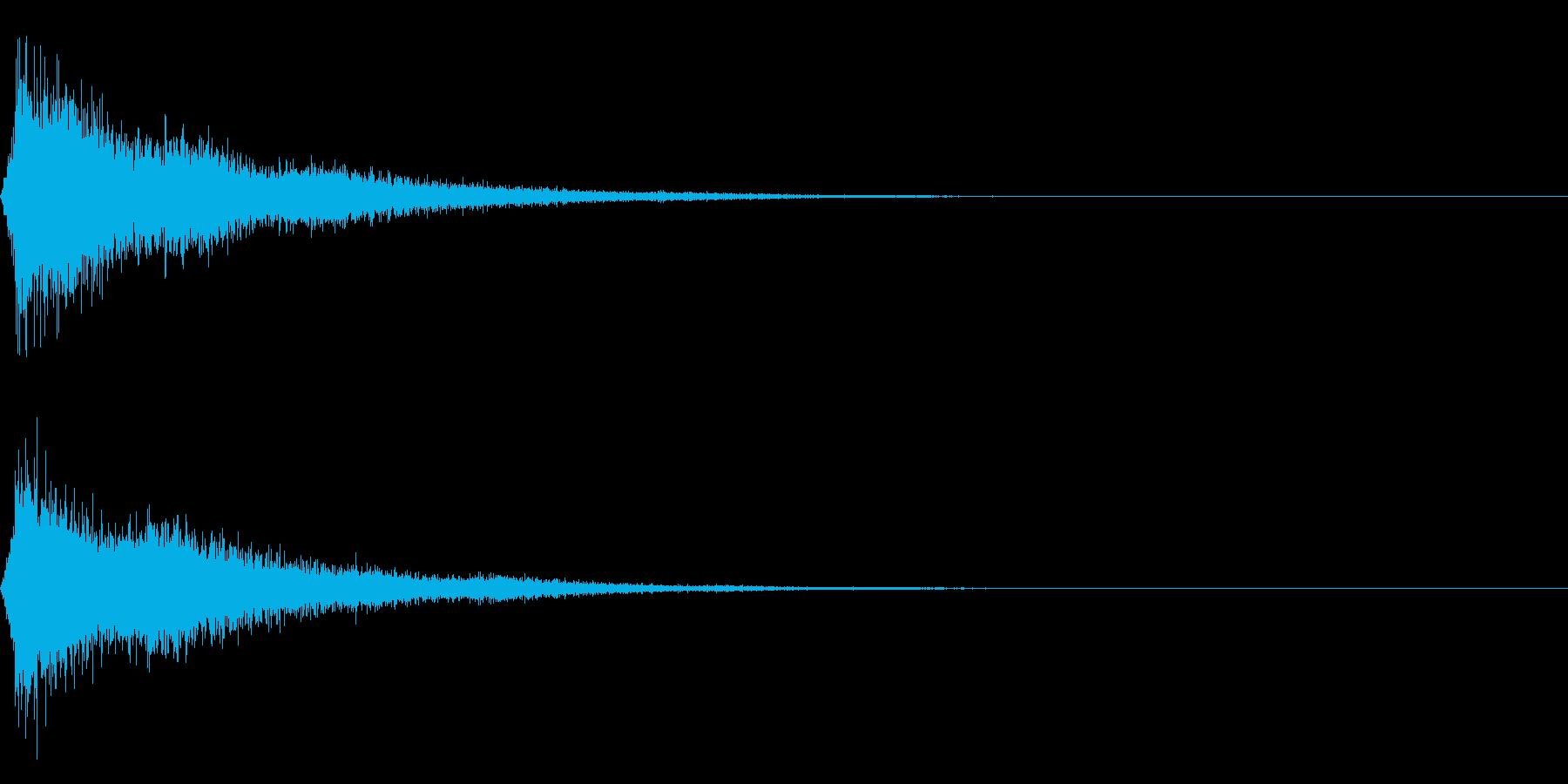 ピシュー・・・の再生済みの波形