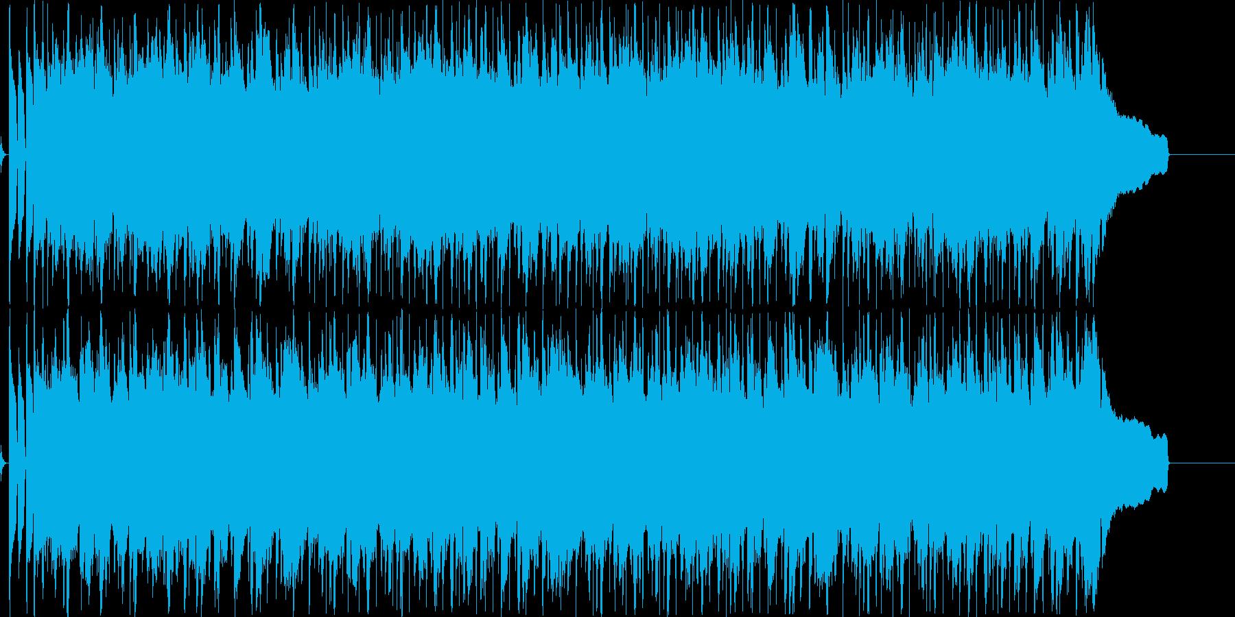 ほのぼのしたアコースティックなBGMの再生済みの波形