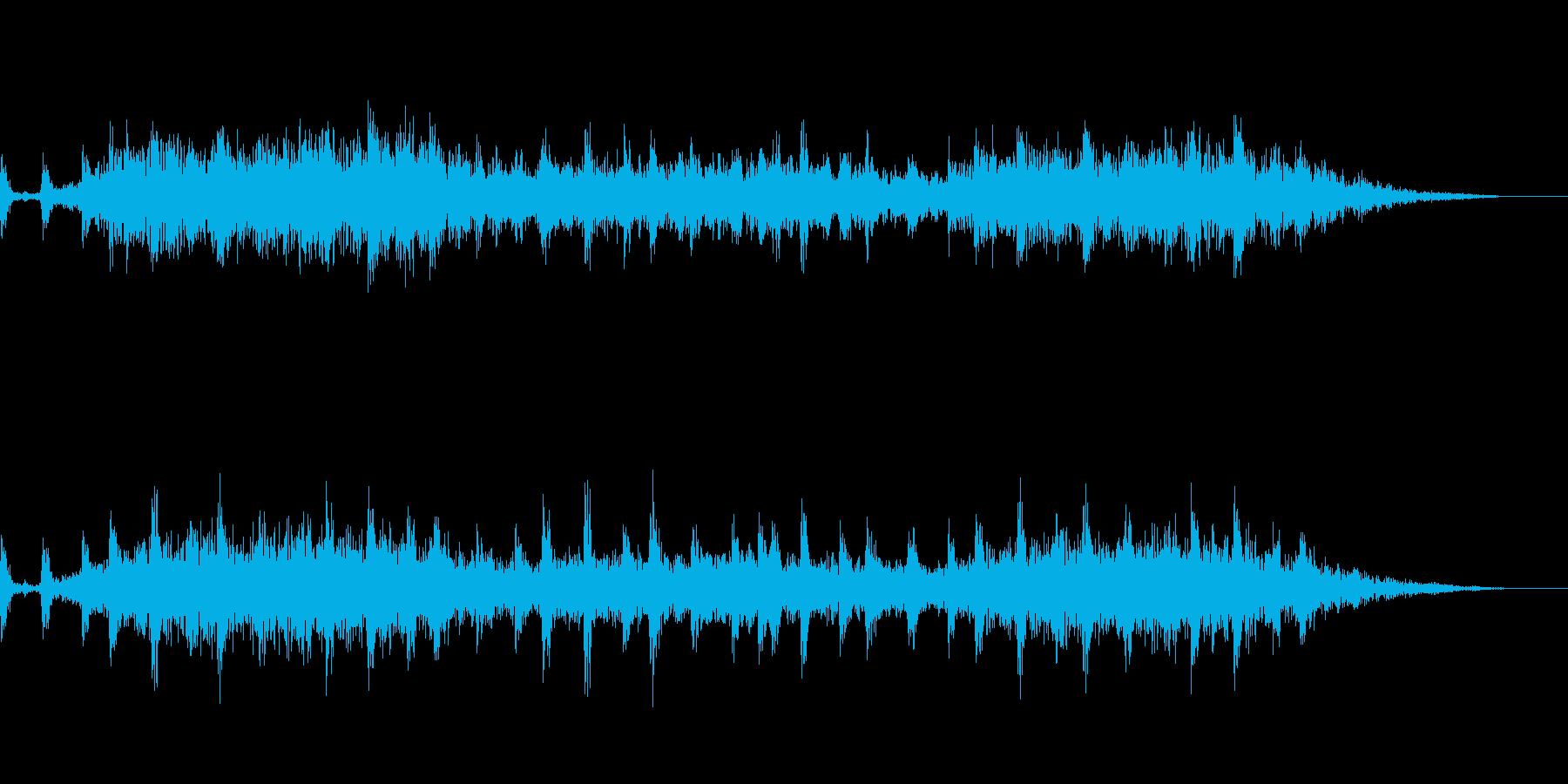 怖さを感じるBGMの再生済みの波形