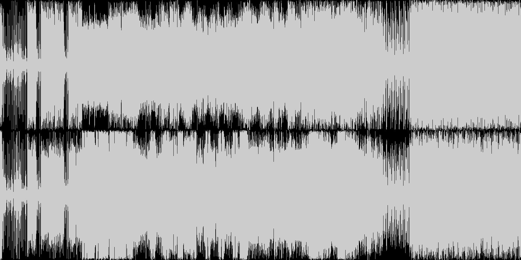 盛り上がりを演出できるハードロックの未再生の波形