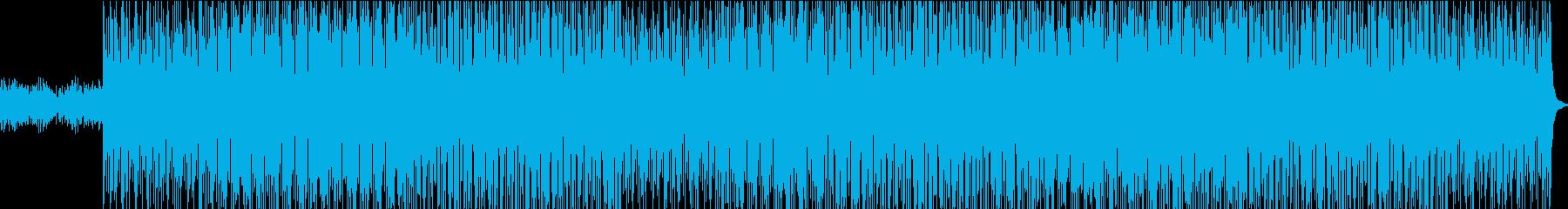 緊迫した雰囲気のテクノロックの再生済みの波形