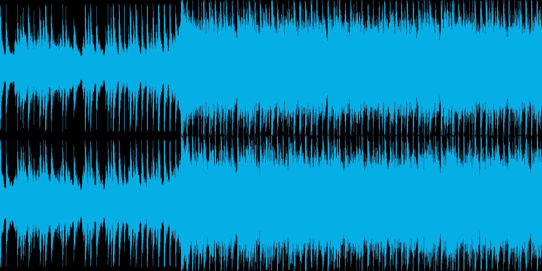 爽やかで楽しげなアコギインストループの再生済みの波形