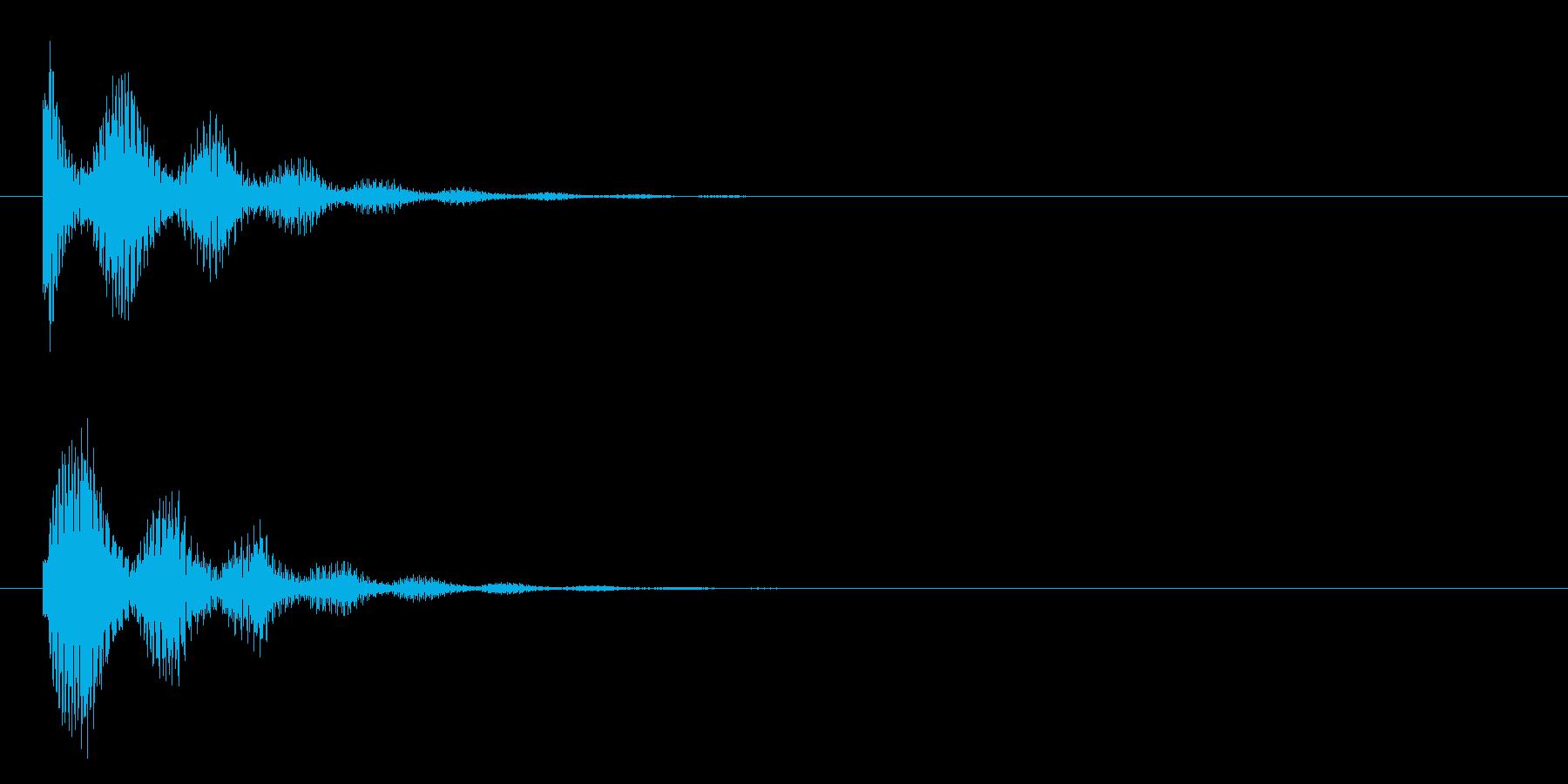 ピカーンの再生済みの波形