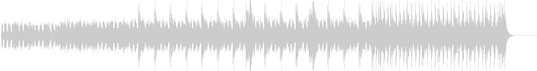ベース主体の淡々としてクールなBGMの未再生の波形