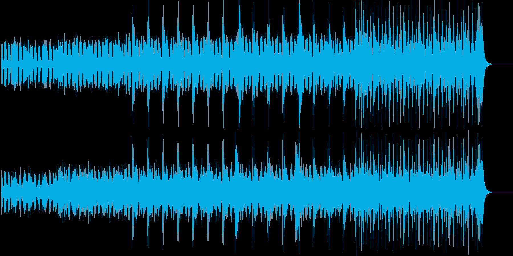 ベース主体の淡々としてクールなBGMの再生済みの波形