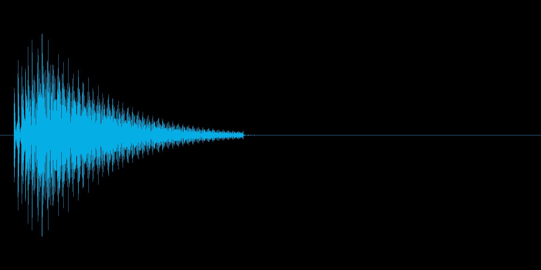ブーン(ビープ音)の再生済みの波形