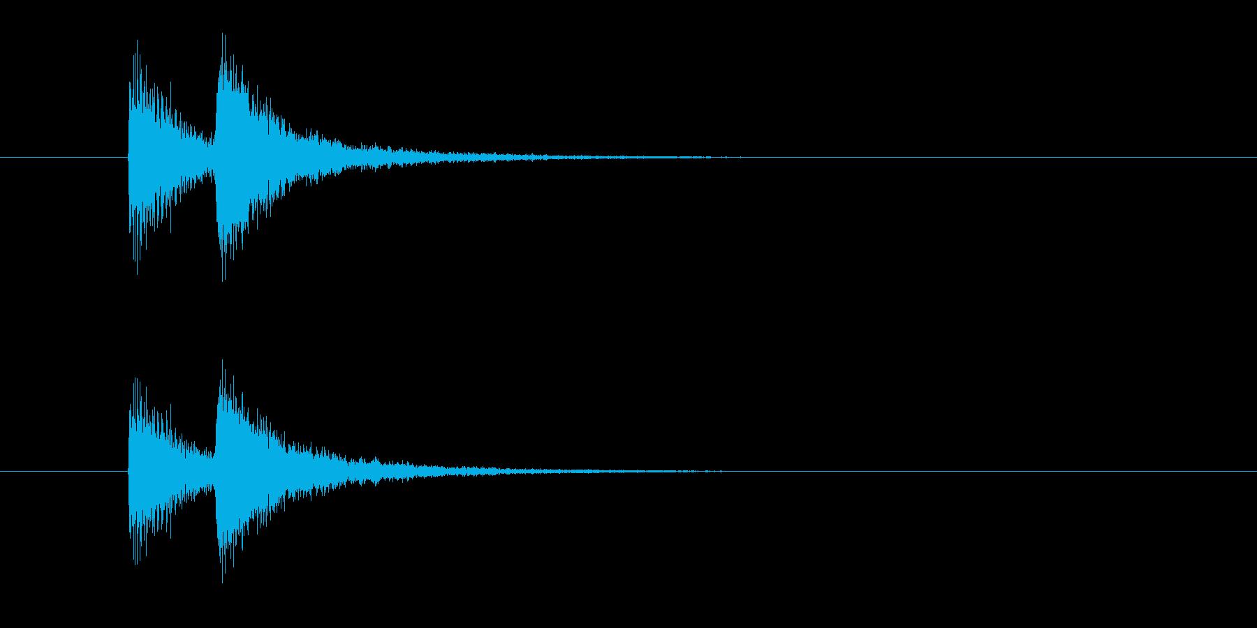 ジャンジャン!(迫力のある出題音)の再生済みの波形