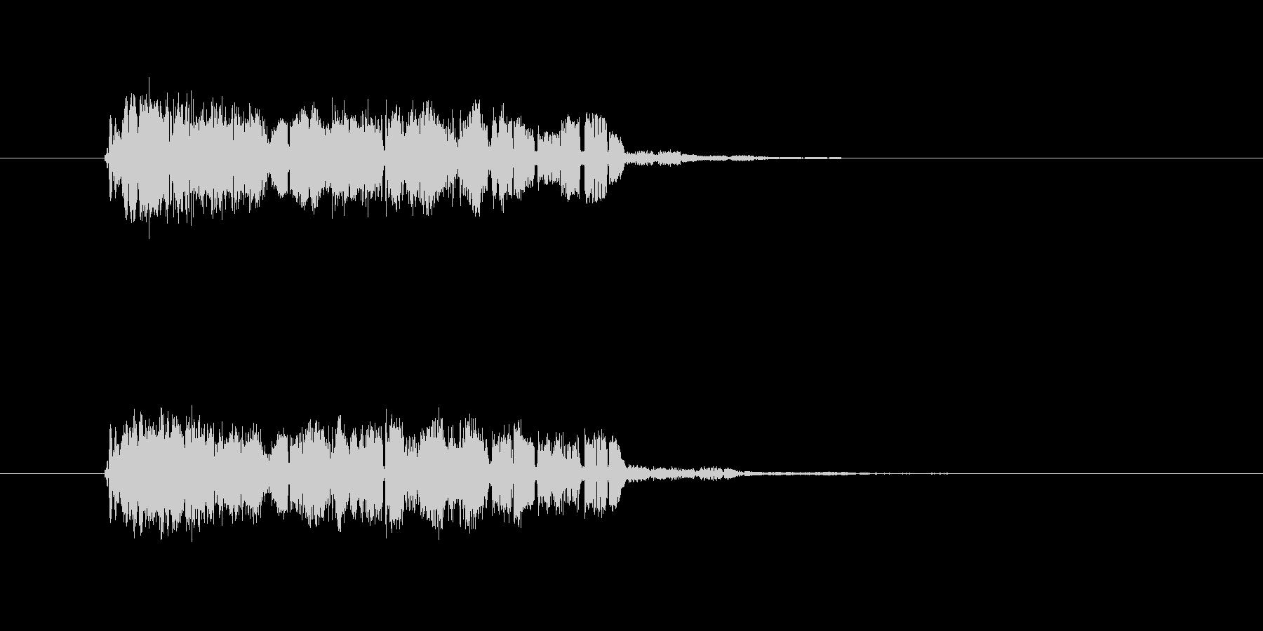 レトロなコンピューター音の未再生の波形