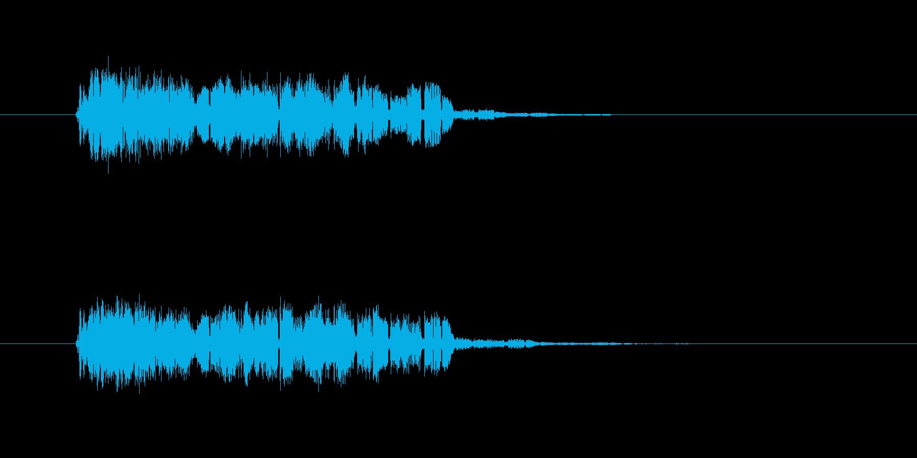 レトロなコンピューター音の再生済みの波形