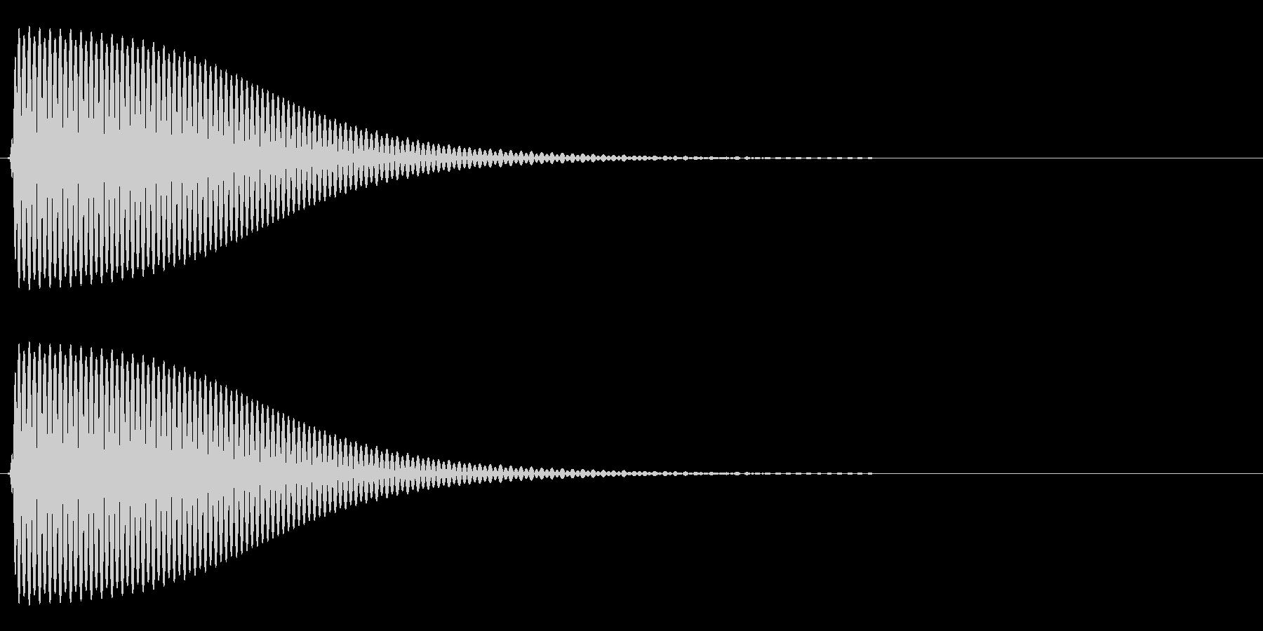 Com ファミコンなどのコマンド音 10の未再生の波形