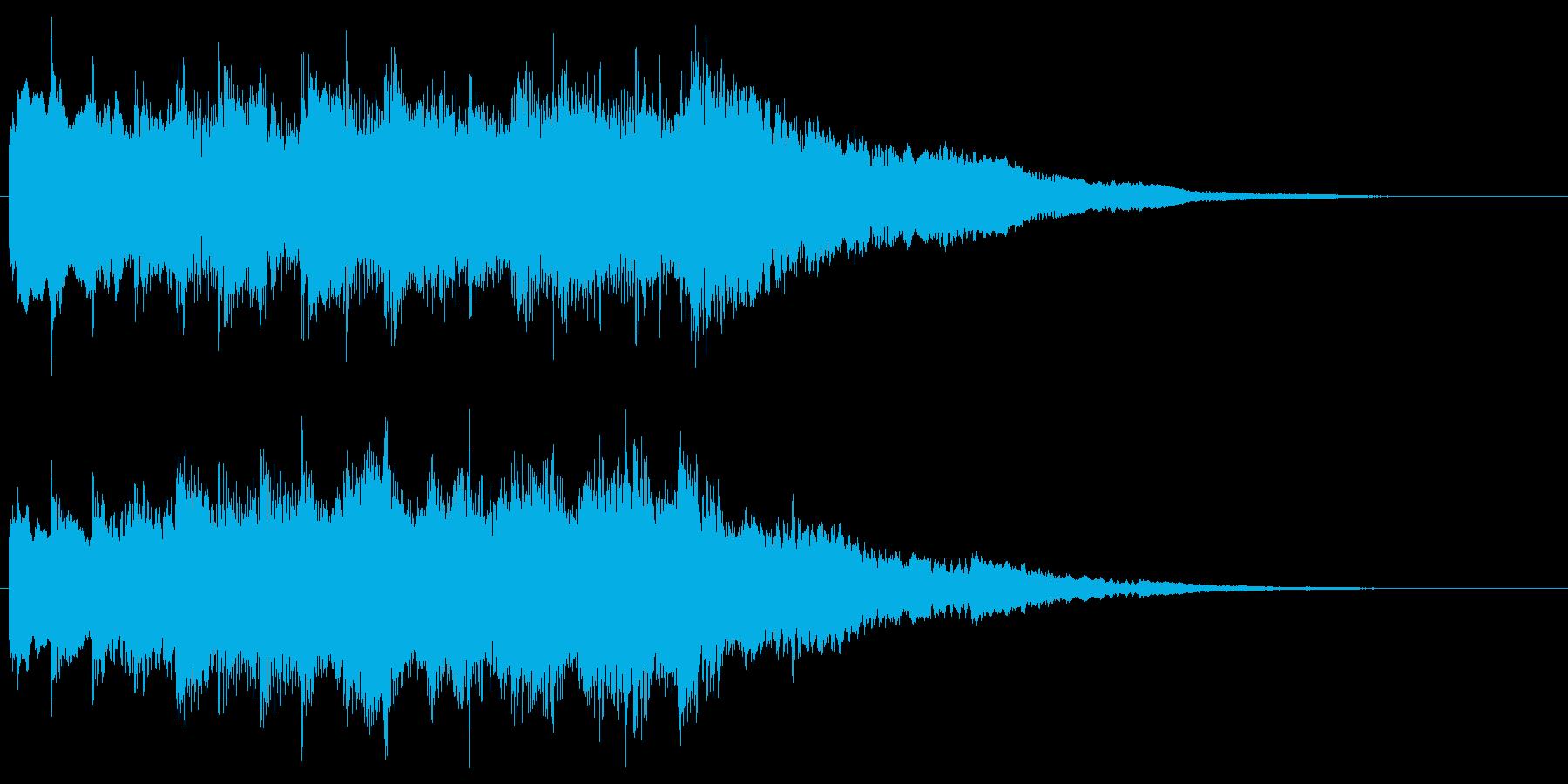 冷たく澄んだ響きの転回音 場面転換 切替の再生済みの波形