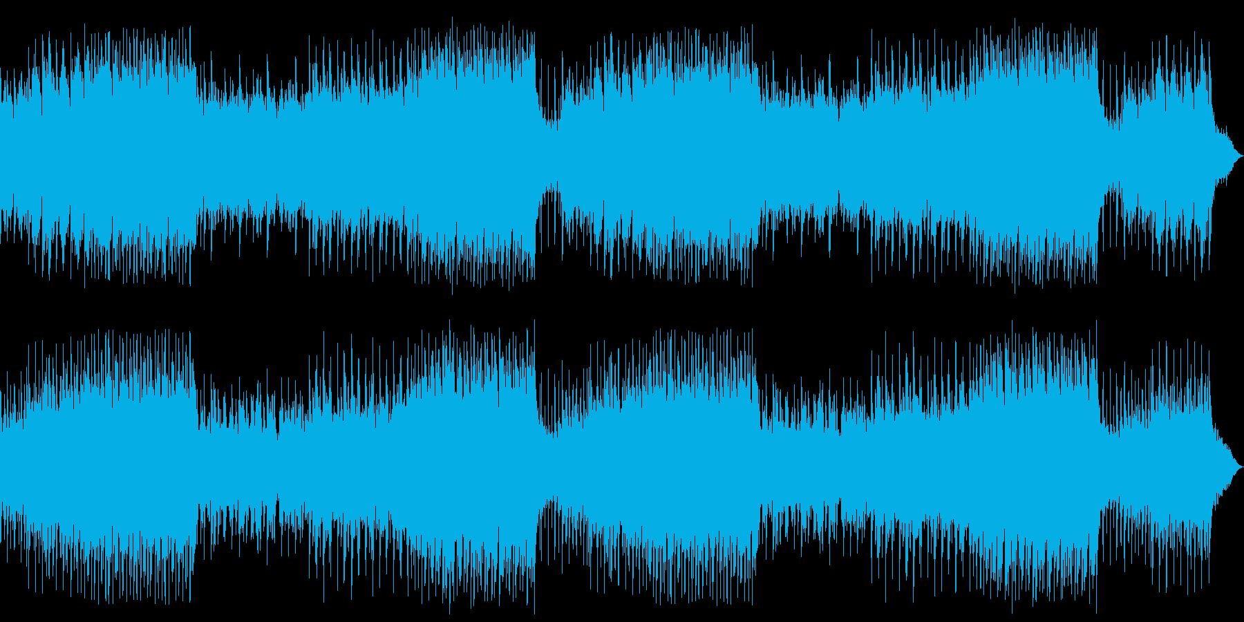 ウキウキ、楽しいピアノカントリーBGMの再生済みの波形
