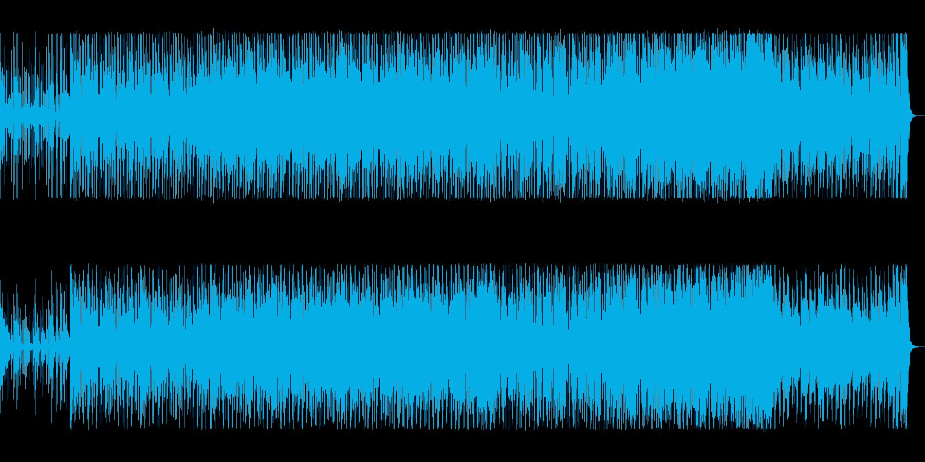 サンバの様なブラジリアンの4つ打ちの曲の再生済みの波形