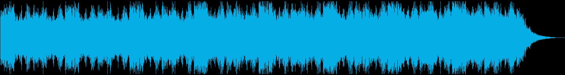 ホラーやサスペンスに最適な不気味な曲の再生済みの波形