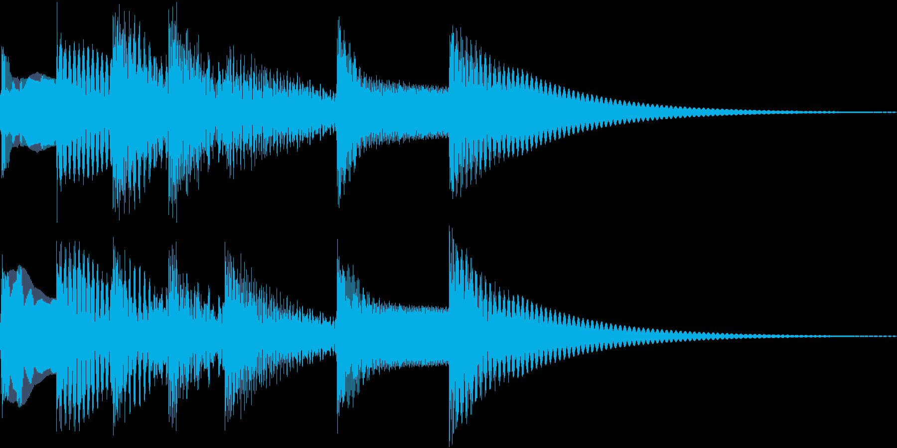 シンプルベル お知らせ ハテナ ? 21の再生済みの波形