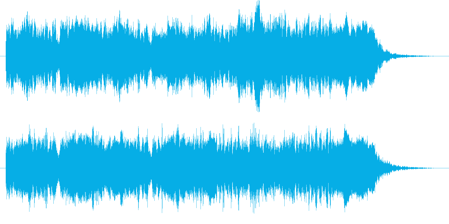 鼓笛隊付きファンファーレ20秒です。の再生済みの波形