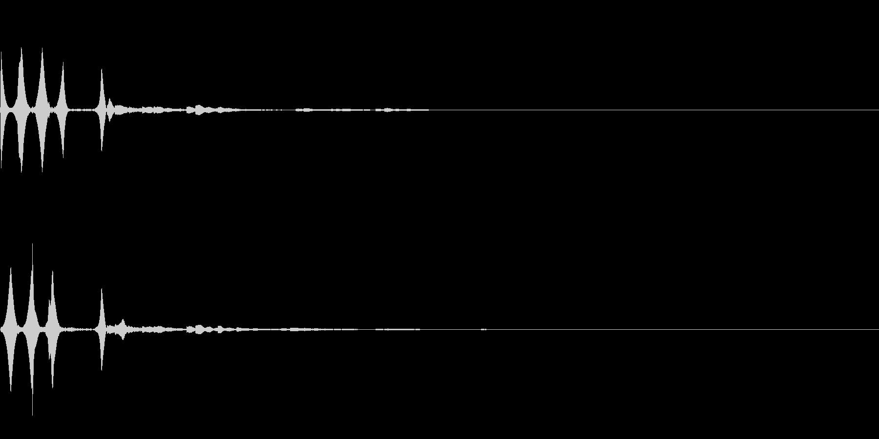効果音 注釈 ピロン キラキラ 決定の未再生の波形