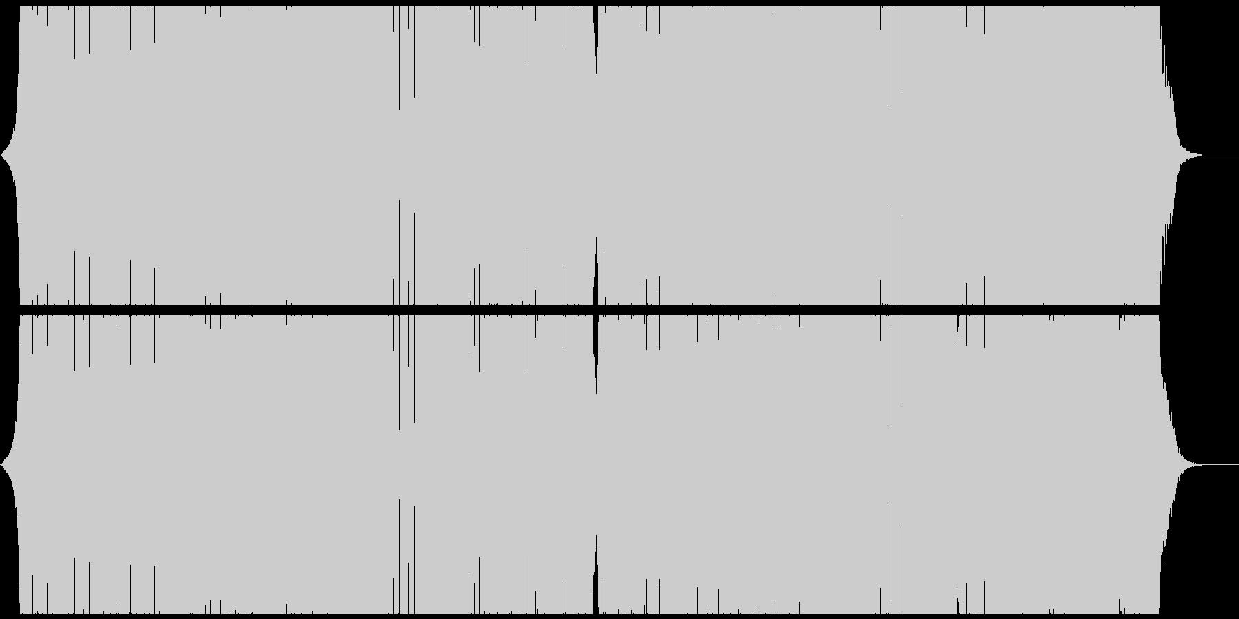 アグレッシブなシンセが躍動するEDMの未再生の波形