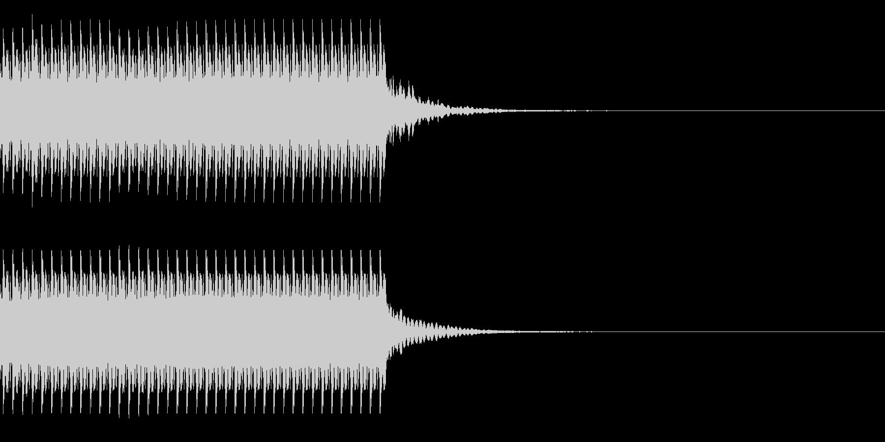コイン40枚獲得 集計 スコア チャリンの未再生の波形