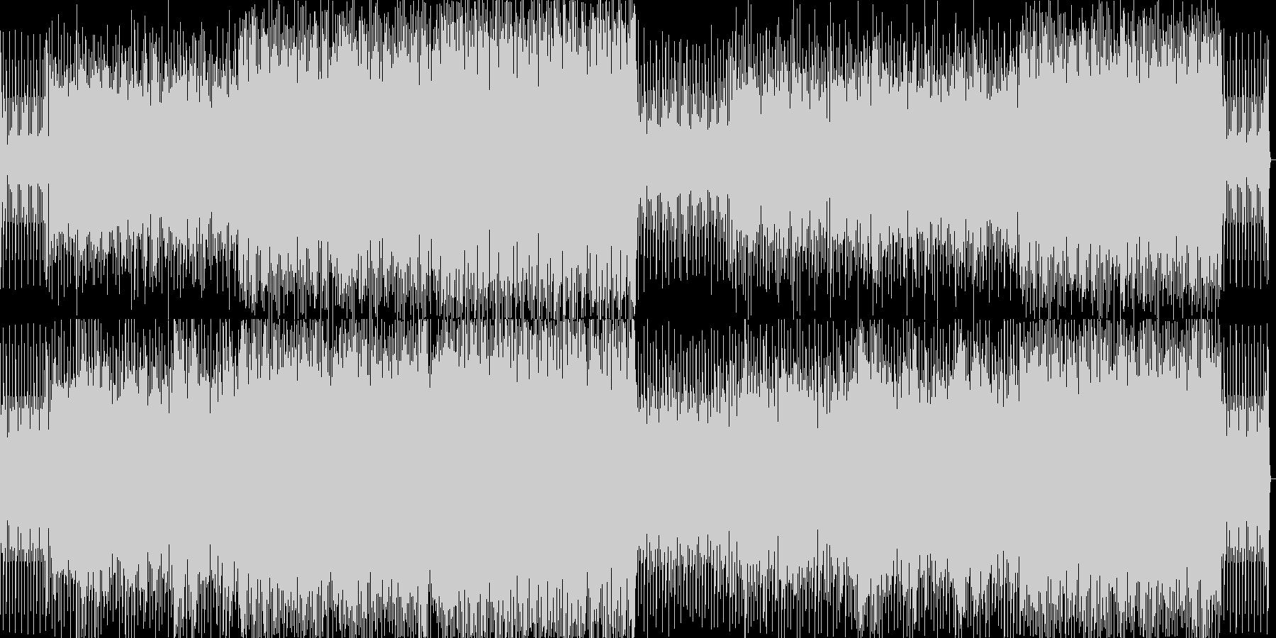 クリスマスをテーマにした軽快なBGMですの未再生の波形