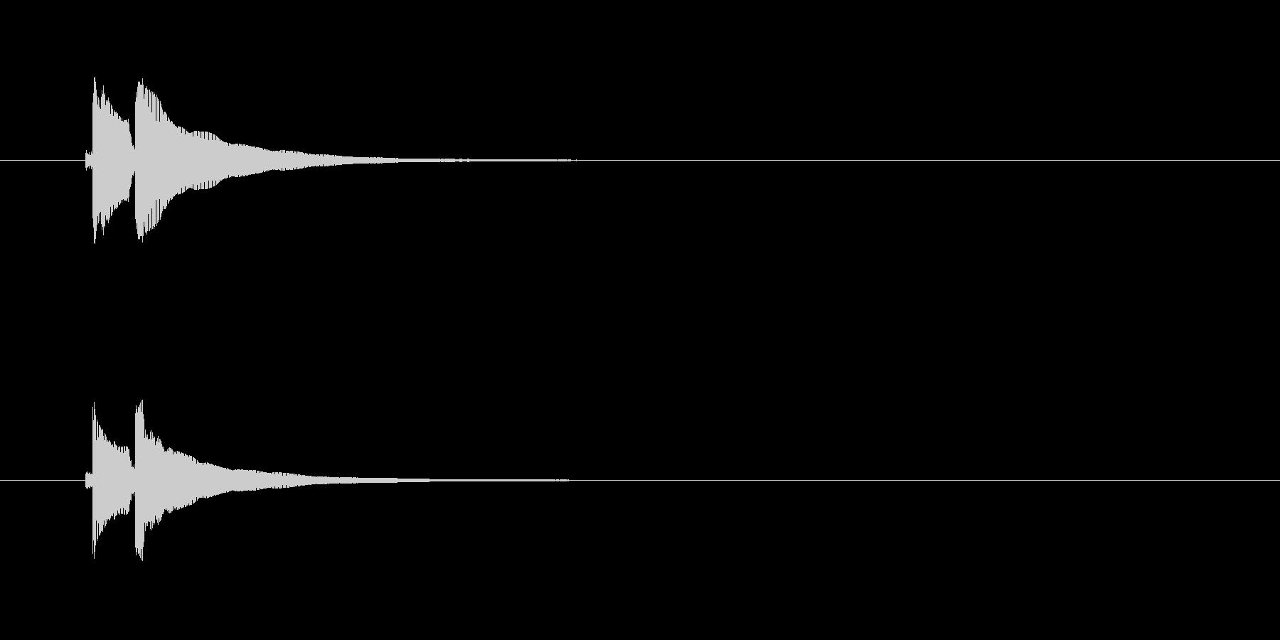 三味線の効果音(単音)パターン1の未再生の波形