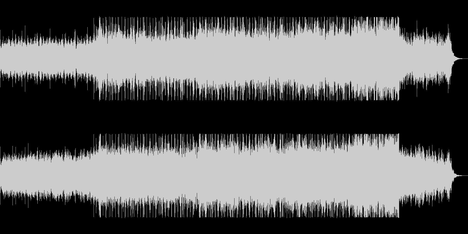 重みのあるリズムがかっこいいロックの未再生の波形