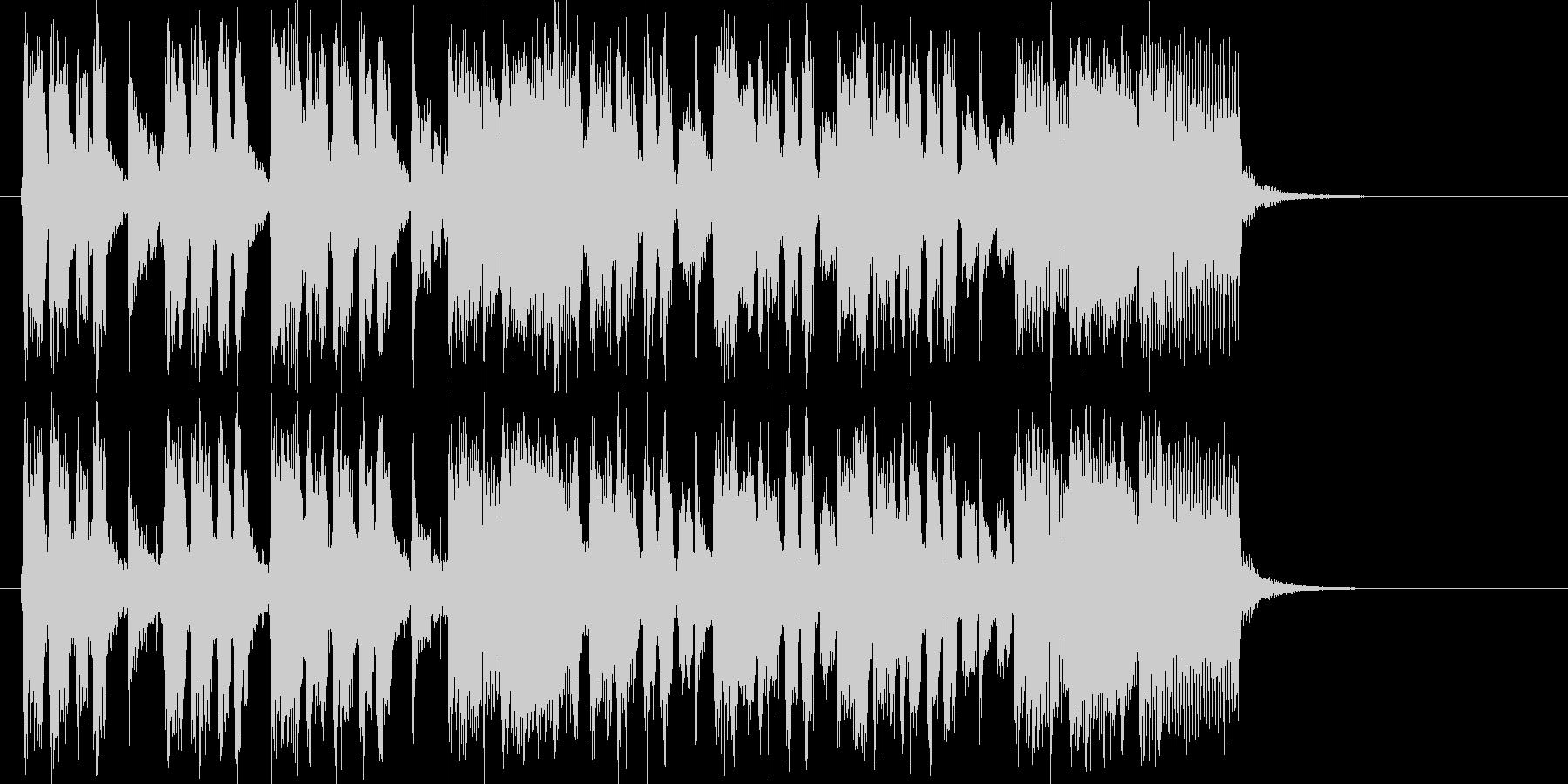 シンセサイザーの爽やかなポップスの未再生の波形