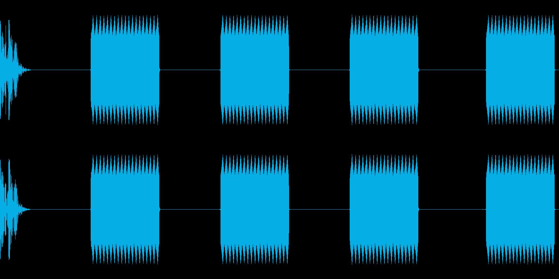 電話が切れるの再生済みの波形