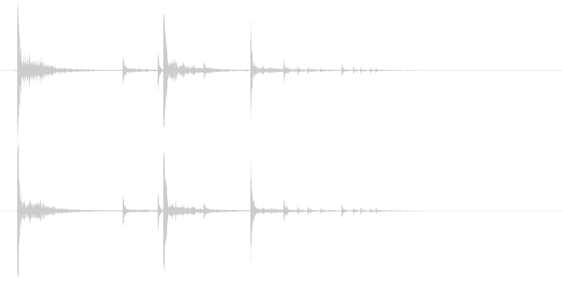 置く、落下 軽い系(物音)カッ、コロリの未再生の波形