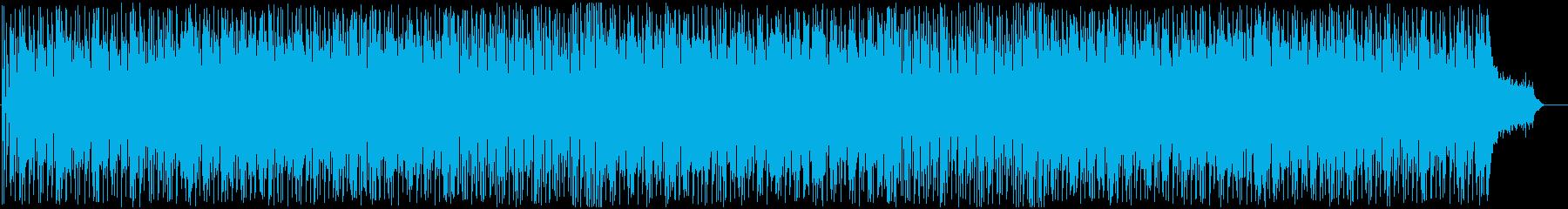 軽快でおしゃれなBGMの再生済みの波形