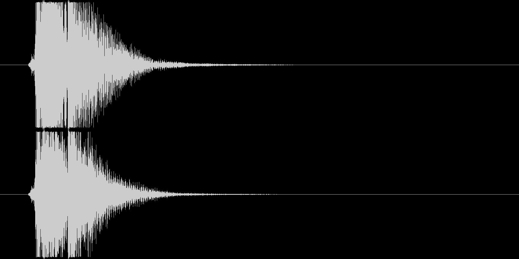 べベン/三味線/和風/掛け声入りの未再生の波形