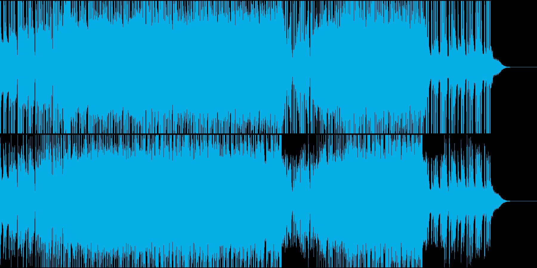 明るいおしゃれなテクノポップスの再生済みの波形