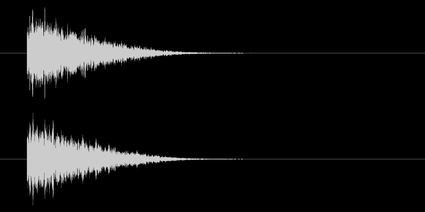 シャーン、テロップ音、文字。の未再生の波形