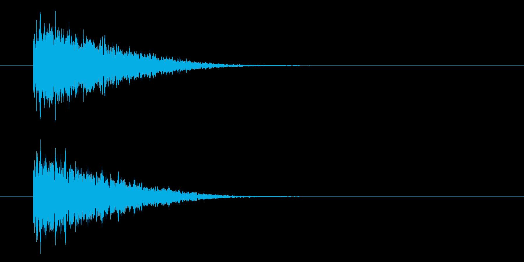 シャーン、テロップ音、文字。の再生済みの波形