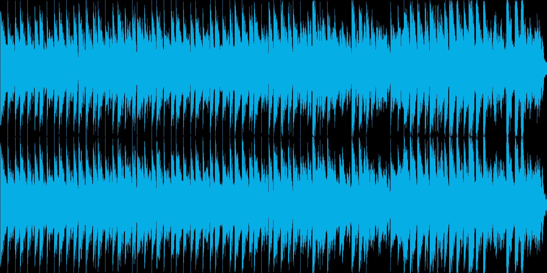 洞窟の中の探検やミステリー系のBGMの再生済みの波形