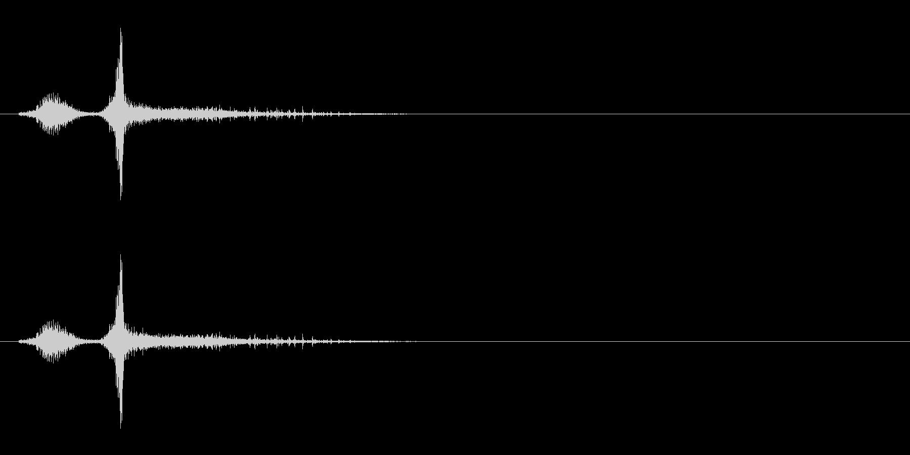 「スシャ〜!」木製シェイカーの振り音FXの未再生の波形
