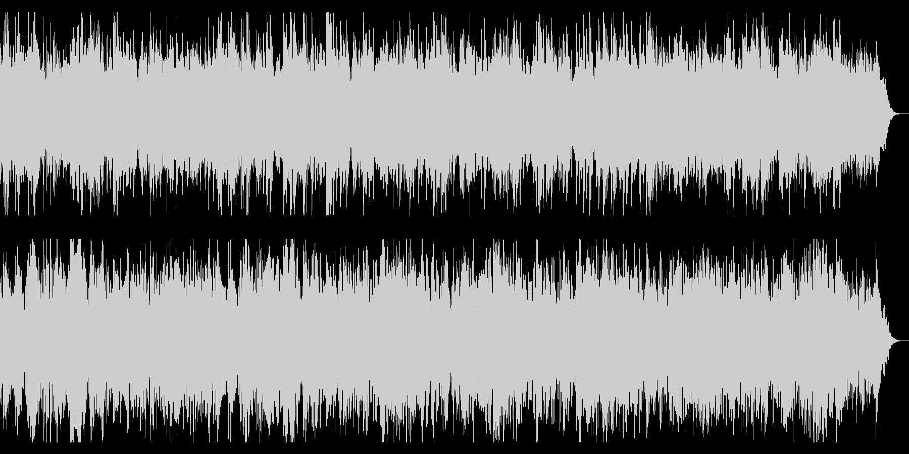 切なくダークなアルペジオとストリングスの未再生の波形