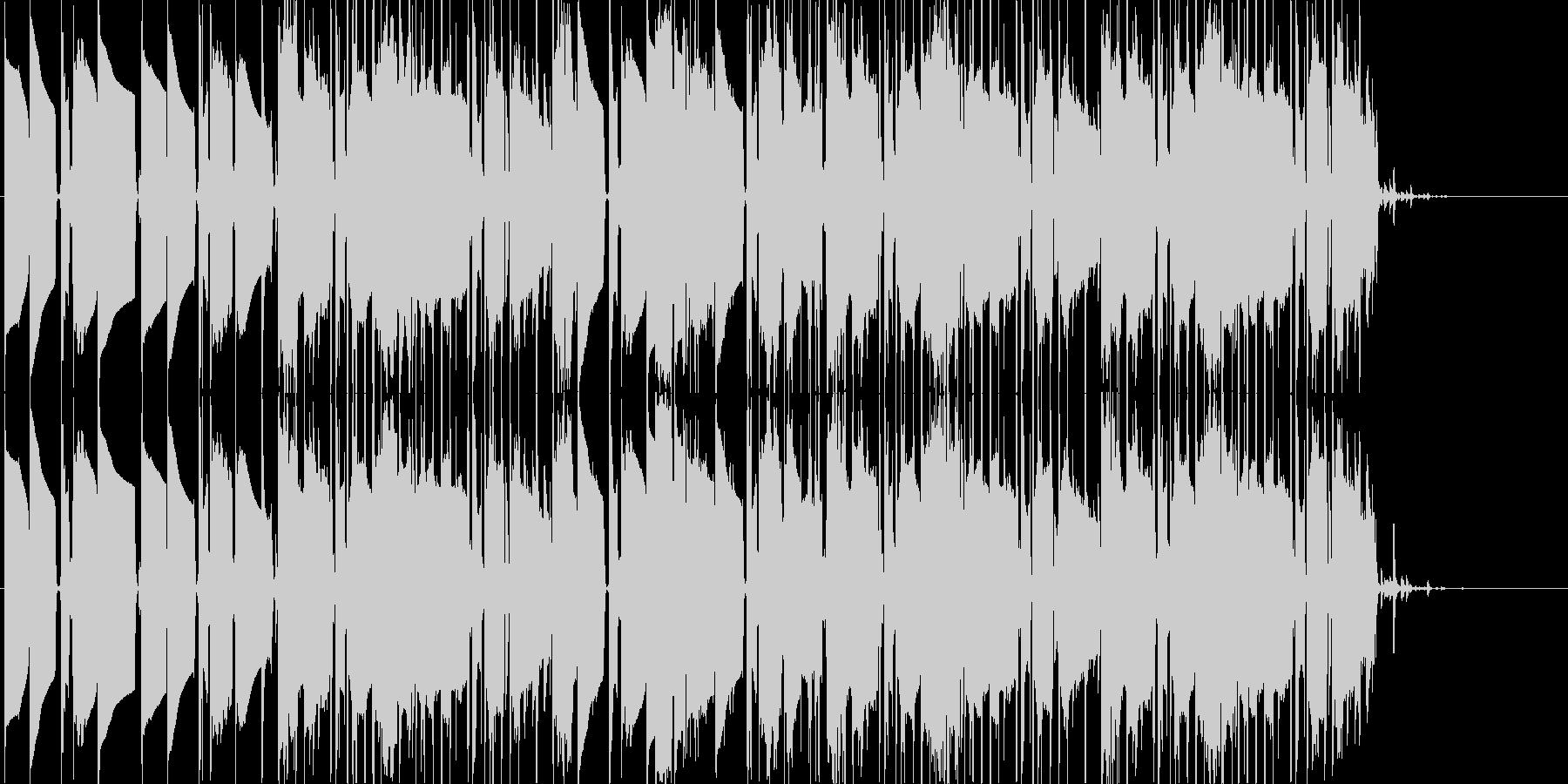 気だるい感じのヒップホップの未再生の波形