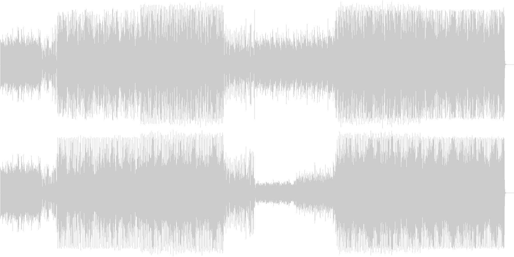 ピアノによるシリアスな曲の未再生の波形