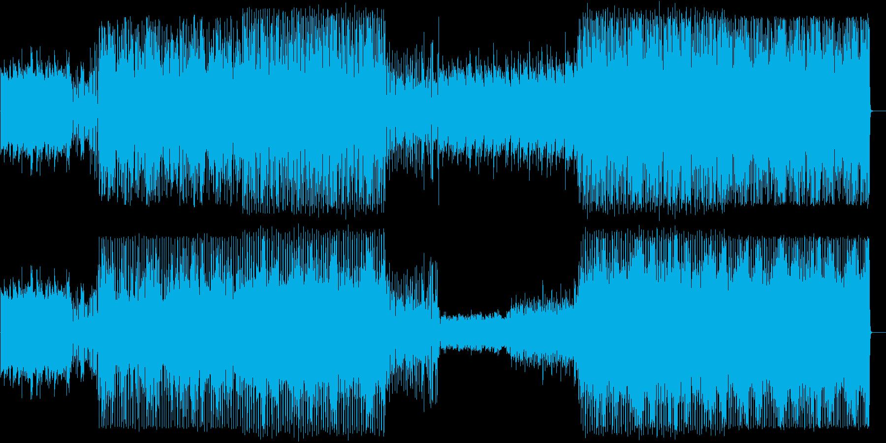 ピアノによるシリアスな曲の再生済みの波形