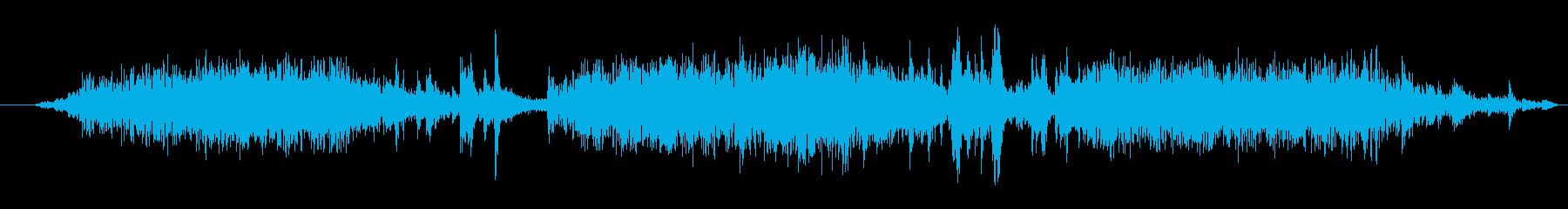 洗濯機が回る音の再生済みの波形
