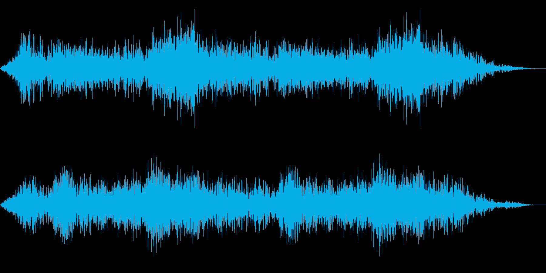 ホラー映画に出てきそうなノイズ系音源10の再生済みの波形