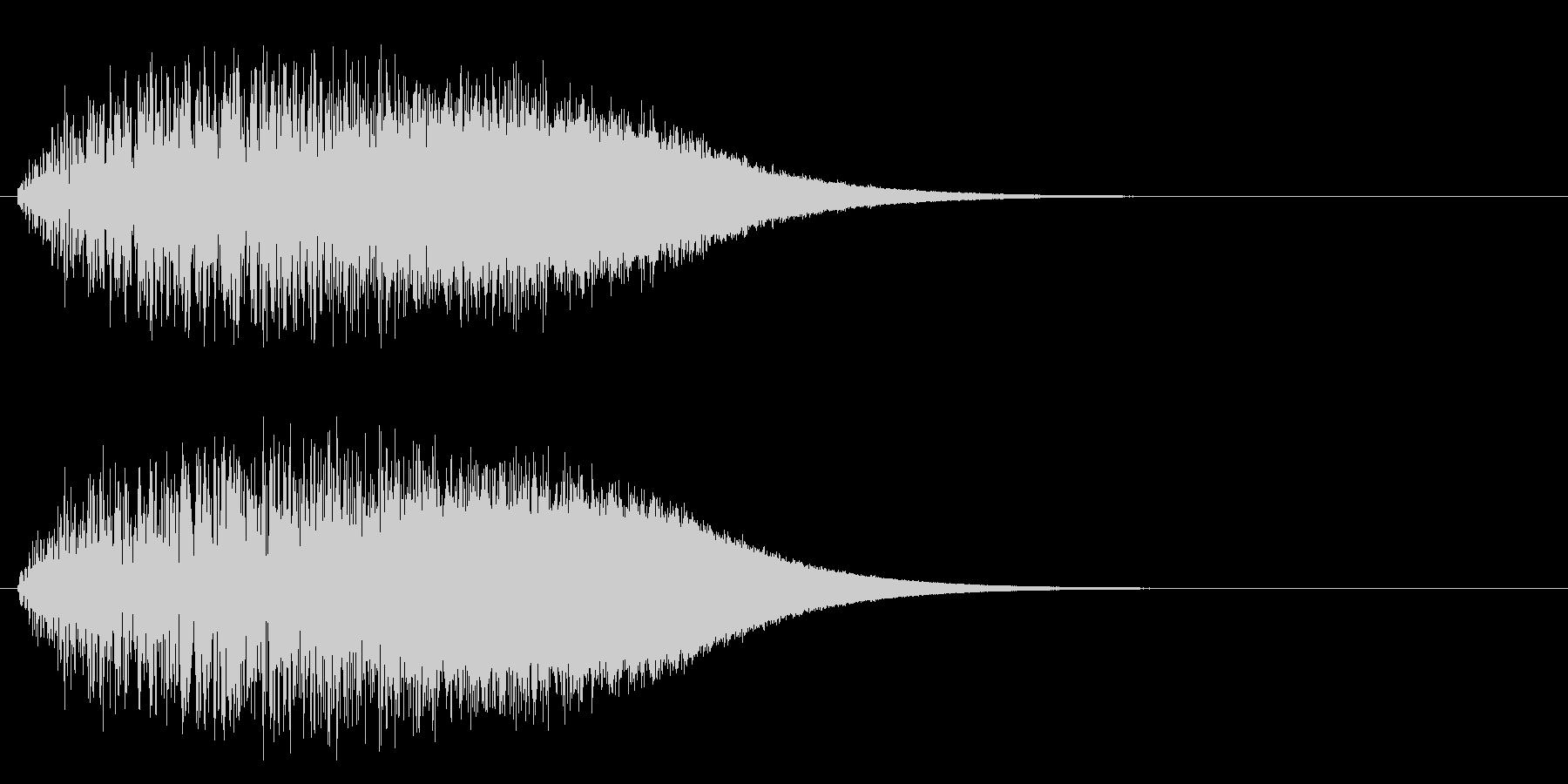 上昇系グリッサンド(キーB)の未再生の波形