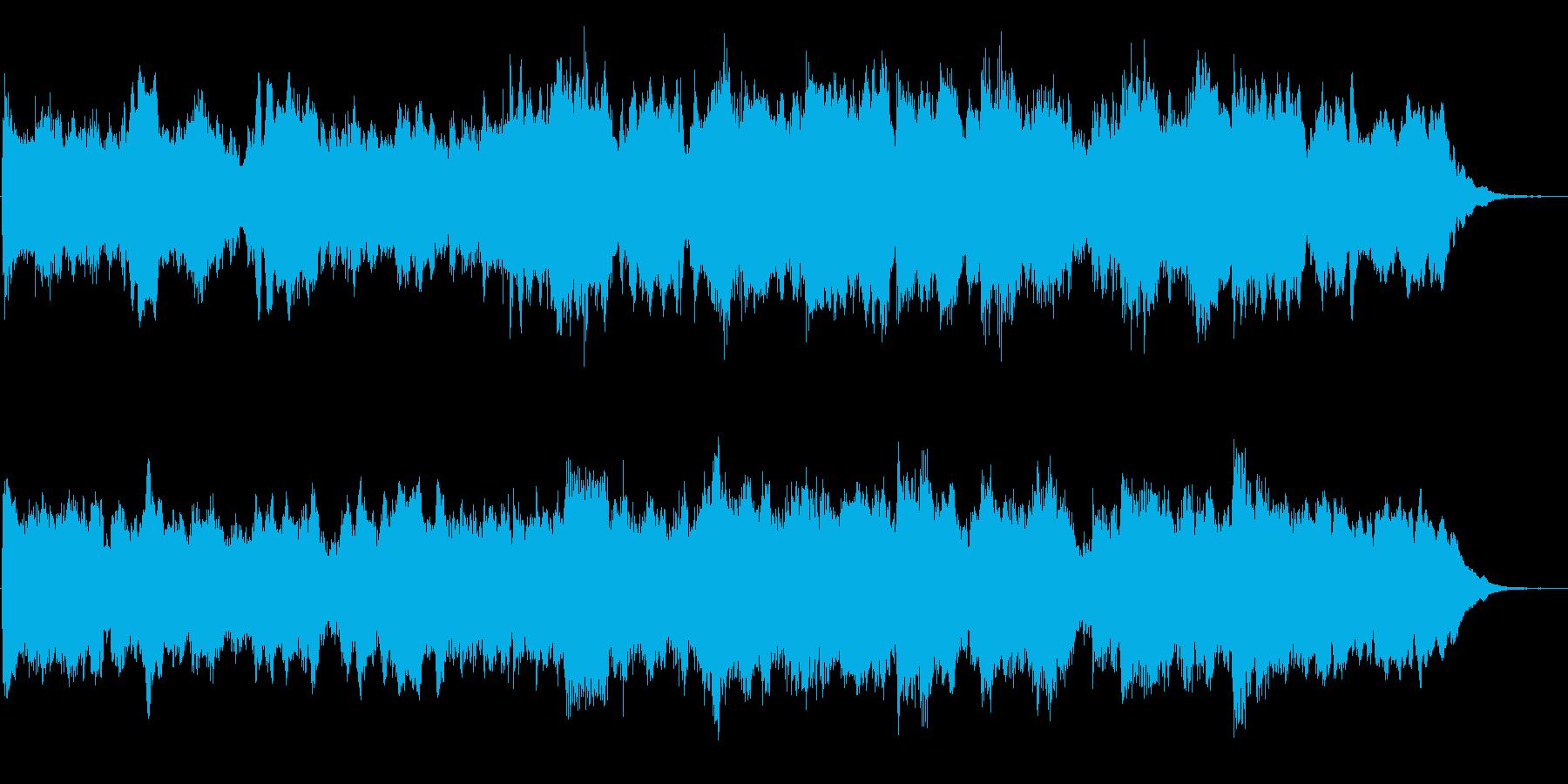 少し緊張した場面でのオーケストラ曲の再生済みの波形