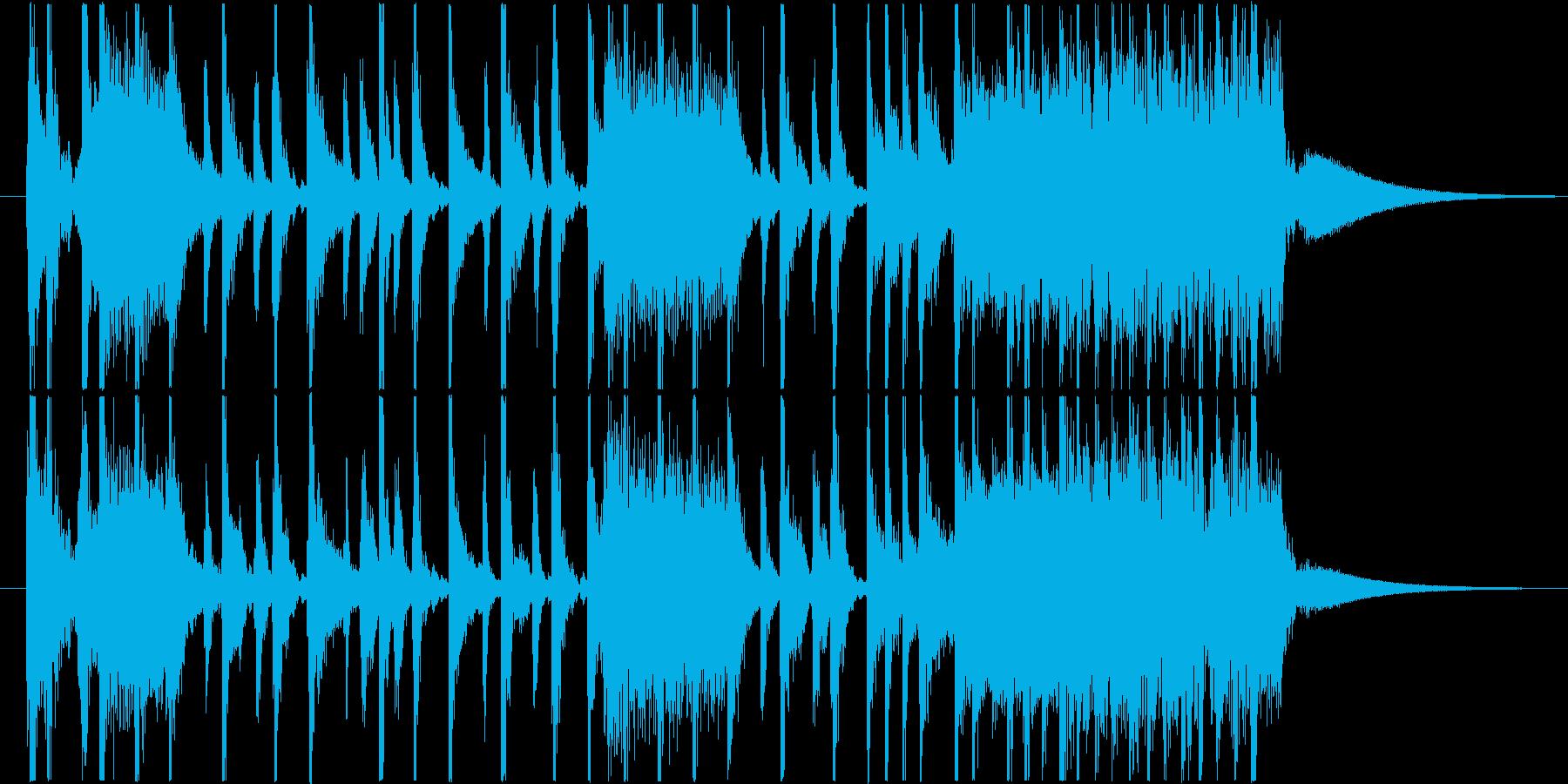 シンプルでブルージーなシングルの再生済みの波形