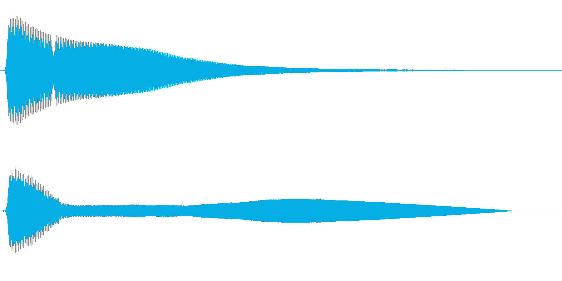 チーン(清涼感のある金属音)の再生済みの波形