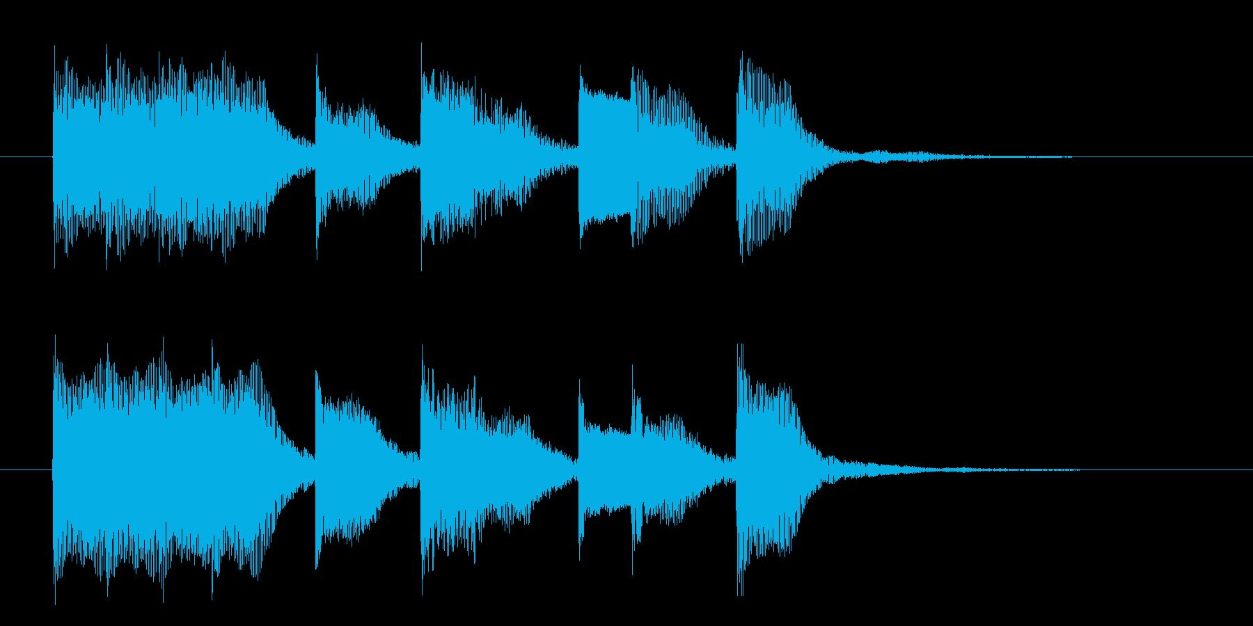 軽やかなジングルの再生済みの波形